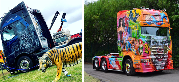 Pimp My Truck - Wraps at Truckfest - Walker Movements